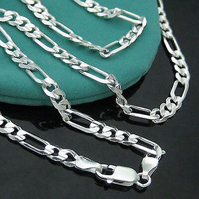 """925Sterling Silver Jewelry 4MM Men 3-1 Chain Necklace 16""""-30"""" NW102"""