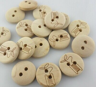 Jewelry Findings Crafts 20/60pcs Wooden Round Button Connectors Beads Charms Clothing Sewing Supplies Relieving Heat And Thirst.