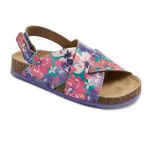 3beef2192765 Image is loading NEW-Cherokee-Toddler-Girls-Purple-Floral-Print-Footbed-