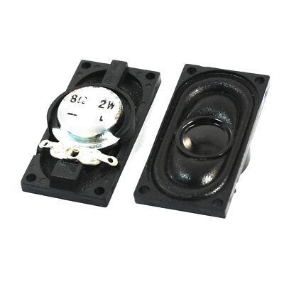 40mm x 20mm Plastic Housing Laptop Speaker Loudspeaker 2W 8 Ohm 2 Pcs
