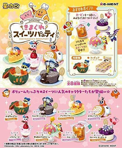 RE-MENT Kirby Chef Kawasaki Sweets Party 1 scatola 8 cifras  204338 from Japan  servizio onesto