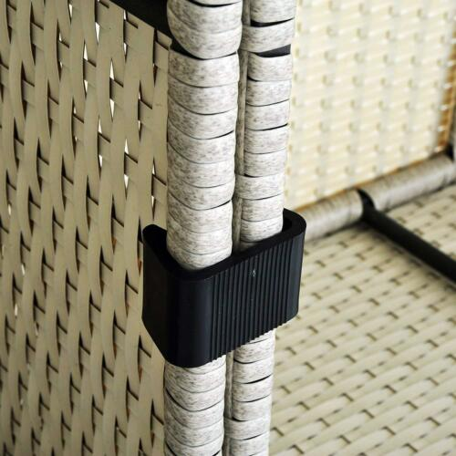 Pack Of 10 Patio Rattan Wicker Furniture Sectional Sofa Chair Alignment Clips M