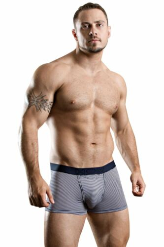 HOM HO1 Boxer Brief Simon Striped Mens Short Horizontal Fly Opening