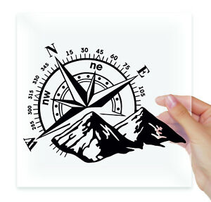 TAMENGI Palmetto Compass Vinyl Decal Offroad Decal 7 inch Palm Tree Decal Explorer Decal USA Decal for Car Sticker Compass Decal Car Decal Laptop Stickers