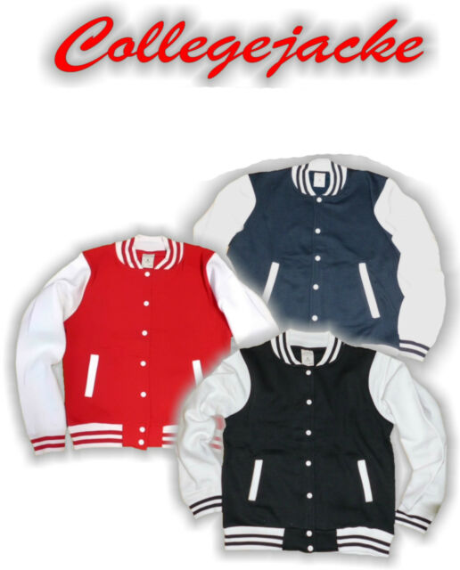 Collegejacke Baseball Jacket Old School Sweat Jacke Herren Damen Shirt Unisex