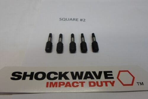 MILWAUKEE SHOCKWAVE IMPACT DUTY #2 SQUARE BIT  QUAN OF 5