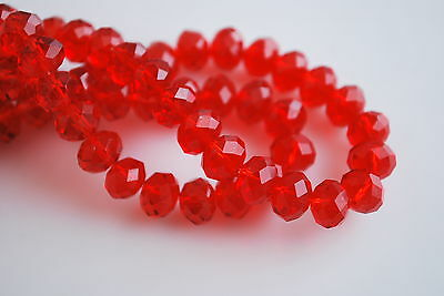 Mixed 200Pcs 3x2mm Faceted Glass Crystal Loose Beads Spacer Rondelle Findings