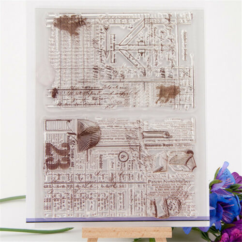 Antique background transparent silicone clear rubber stamp cling diary decor *