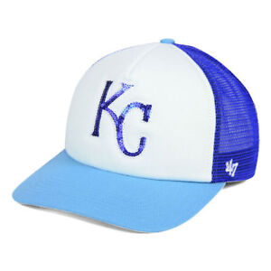 4f98a8b5 Details about Kansas City Royals MLB Women's Glimmer Trucker Team Cap Hat  Ladies Snapback KC