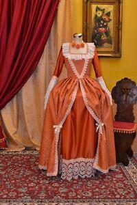 Costume-di-Scena-Abito-Storico-Abito-d-039-Epoca-Costume-Storico-Stile-1700-cod-744
