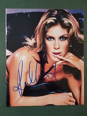 Rachel Hunter -JSA cert-signed photo - 3   eBay