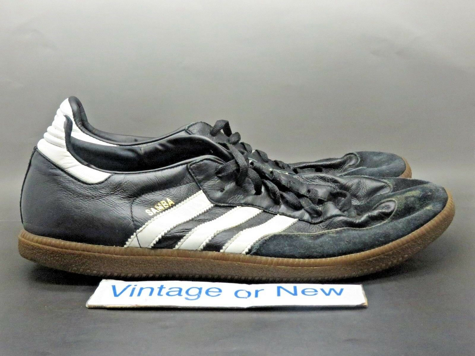 Men's VTG Adidas Samba Black White Gum Soccer Shoes 2008 Price reduction New shoes for men and women, limited time discount