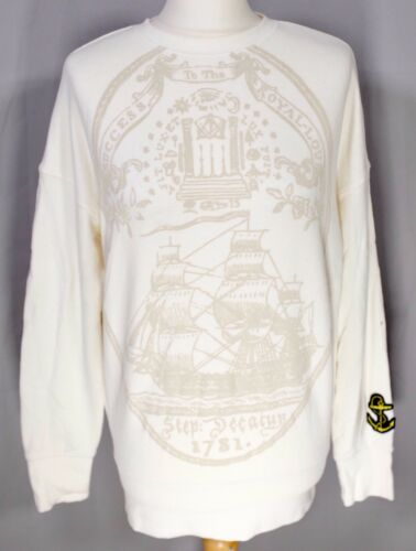 Sweater Thomas 16 Uniqlo Sweatshirt Rare Nautical Paul Maritime Jumper Cream 14 1pPPWqn