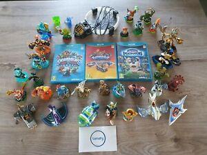 3 Jeux Skylanders Trap Team + Superchargers + Imaginators (Wii U) + 32 figurines