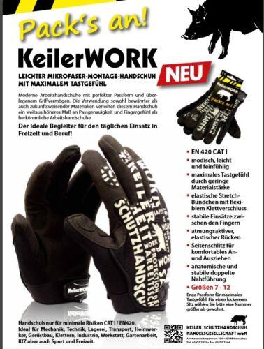LEICHTER MIKROFASER-MONTAGE-HANDSCHUH,Gr.12 Keiler WORK 1801317