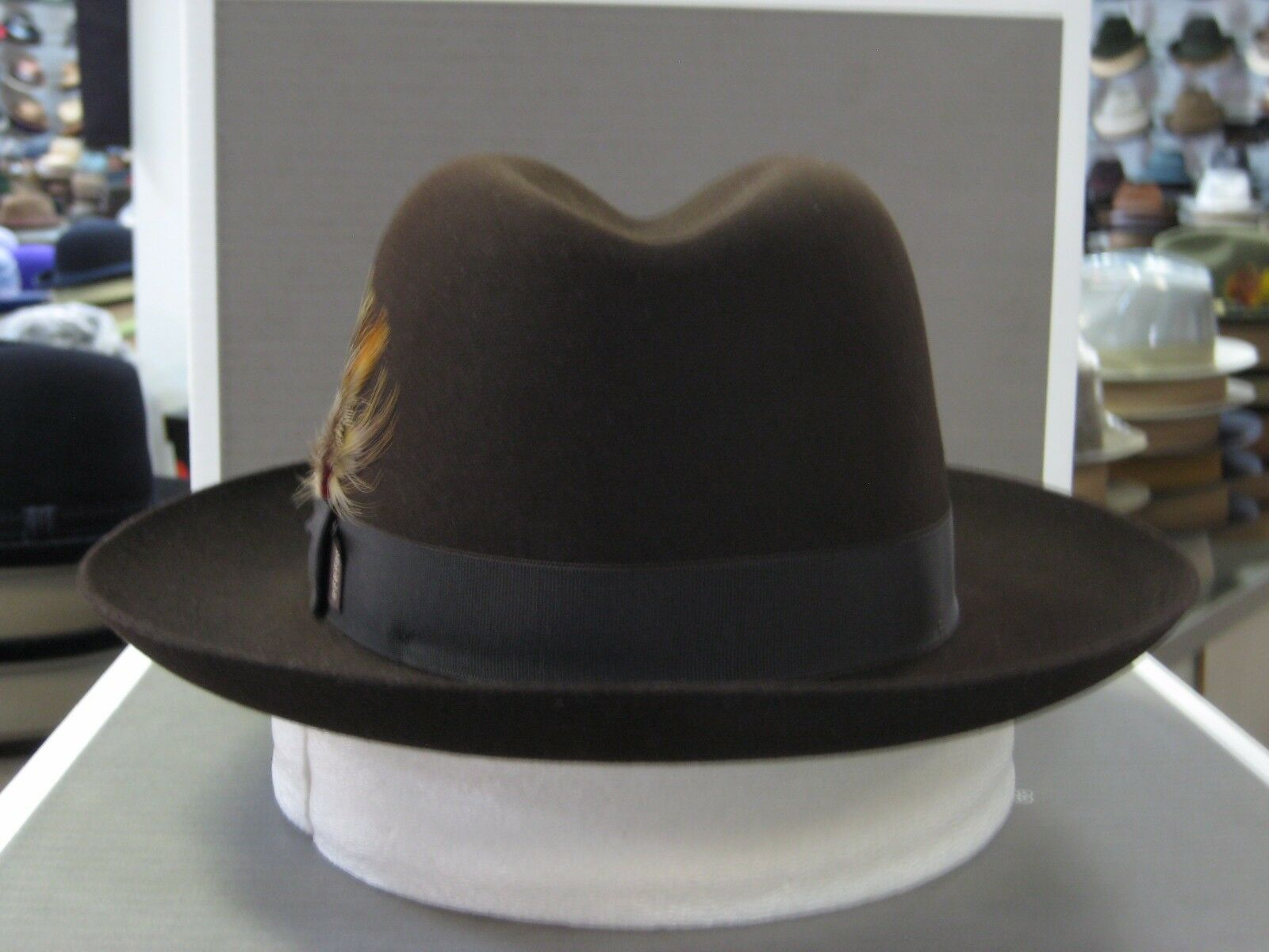d6e96ab2a2c3f Stetson Sutley Cordova Fur Felt Fedora Dress Hat 7 3/4 for sale online |  eBay