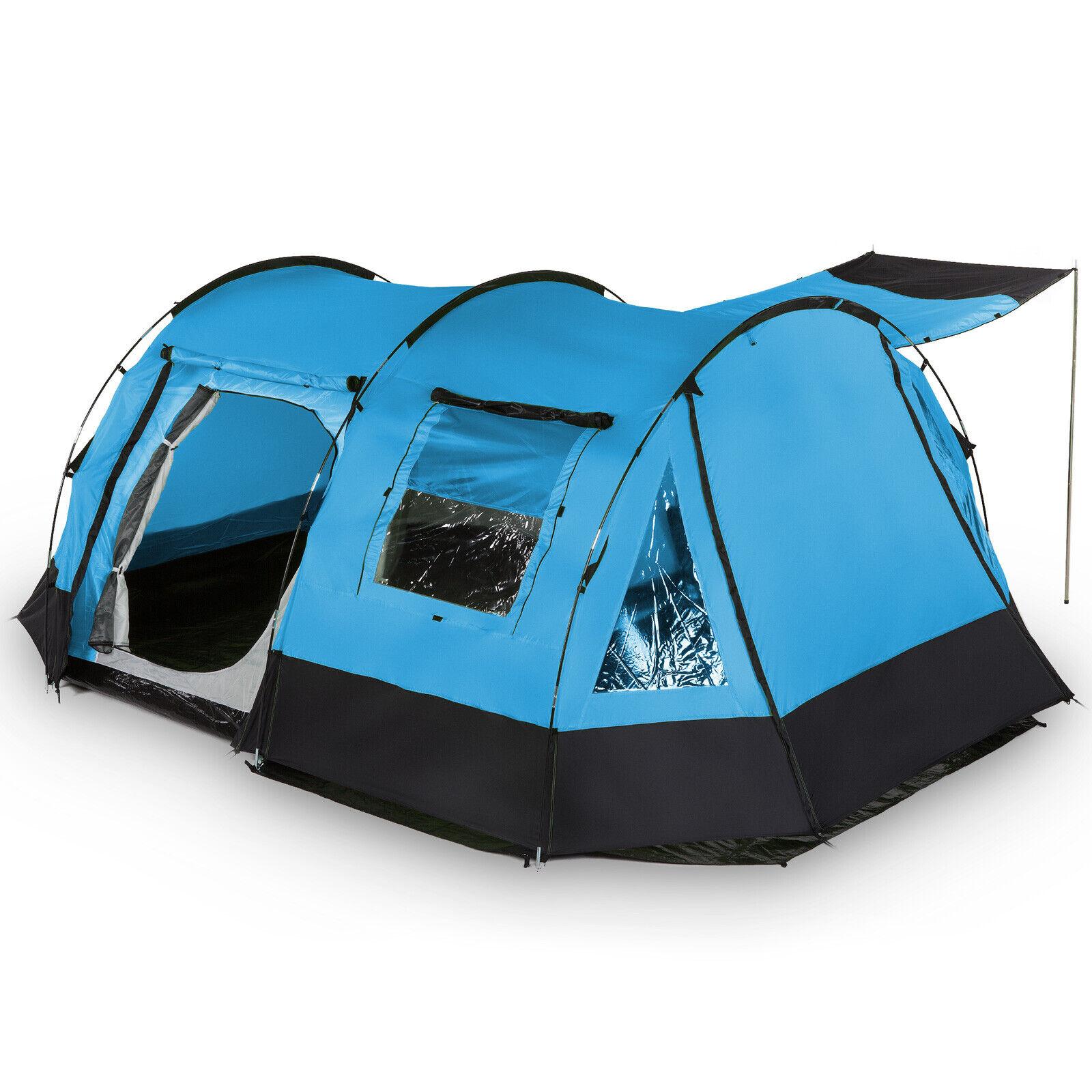 Skandika kambo 4 personas familias tienda de camping tienda túnel mosquiteros nuevo