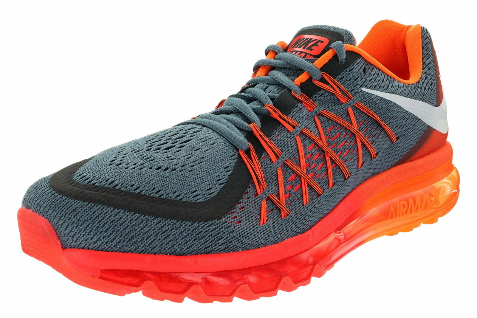 Men's Nike Air Max 2018 Running Sneakers New, Gray / Orange 698902-418 SKU AA
