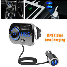 Bluetooth Car Fm Transmitter Audio Adapter Receiver Hands Free Fast Charging Kit Fits 1997 Toyota Corolla