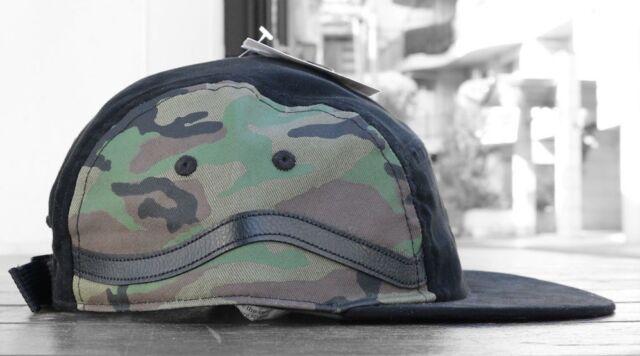 VANS Old Skool Sidestripe 5 Panel Hat RARE Camo Black Camouflage Sk8 Hi