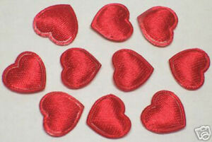 160-pcs-Red-Cute-Small-Padded-Satin-Heart-appliques-DIY-Card