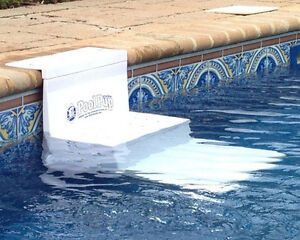 poolpup in ground above ground pet dog pool safety steps pupsteps white ebay
