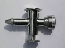 Sight Level Glass Gauge Valve Lower w/Drain SS304 with Tri Clamp Fittings