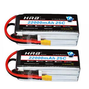 2xHRB-6S-22-2V-22000mAh-25C-50C-Lipo-Battery-For-Monster-Box-S1000-UAV-Drone-Car