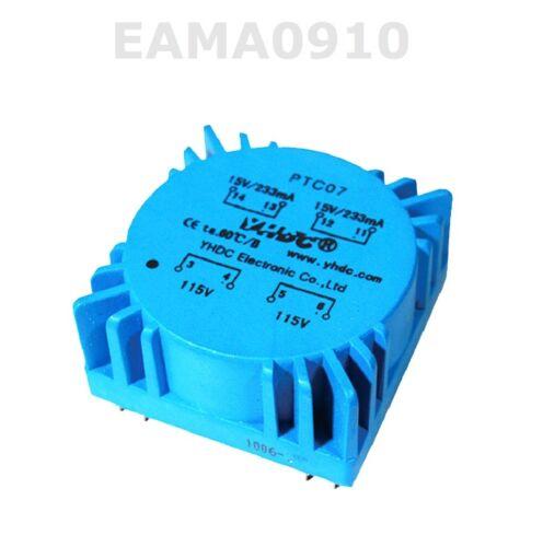 7VA Toroidal Voltage Transformers Audio Transformers Dual 110V//115V PTC7