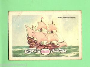 D85-1950-60s-ATLANTIC-PETROLEUM-CARD-16-FRANCIS-DRAKE-039-S-GOLDEN-HIND
