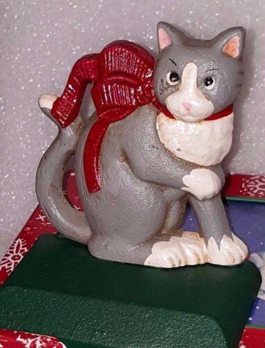Cat Christmas Stocking Hanger Holder Midwest Cast Iron kitten