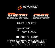 Metal Gear - Classic Fun NES Nintendo Game
