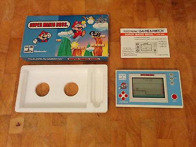 NINTENDO 1988 GAME & WATCH - SUPER MARIO BROS  boxed!!+ Manual-Vintage RARE