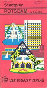 Stadtplan, Potsdam, 1980