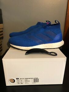 best loved 014cc 0d9b5 Image is loading ADIDAS-ACE-16-PURECONTROL-ULTRA-BOOST-BLUE-SZ-