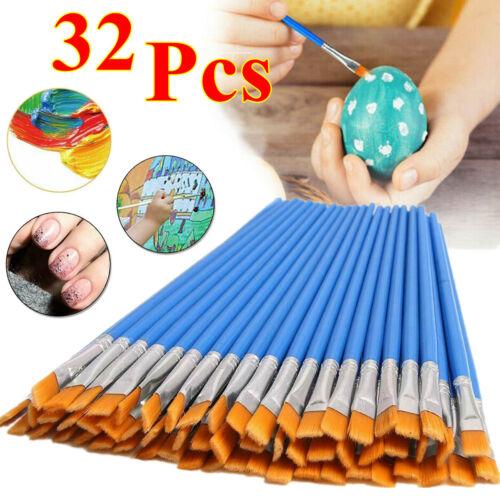 32pcs Acrylic Artist Paint Brushes Set Oil Watercolour Painting Craft Art Kit