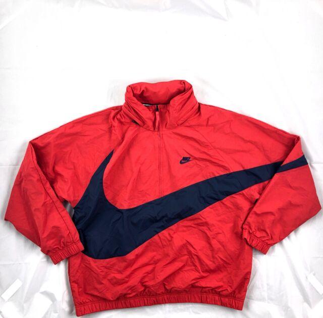 New Mens Nike Sportswear Anorak Big Swoosh Half Zip Jacket AJ1404-121 WHT Sz 2XL
