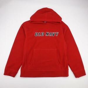OLD NAVY Fleece Pullover Hoodie Sweatshirt Red Mens M | eBay