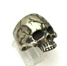 Thick & Heavy Large Sterling Silver Skull Ring