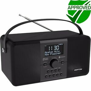 DAB-Radio-Clock-Portable-Digital-Alarm-Rechargeable-Bluetooth-AZATOM-Mulitplex