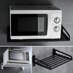 US-Microwave-Oven-Rack-Wall-Mounted-Shelf-Home-Kitchen-Organizer-Storage-Holde
