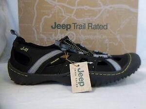 J-41 J41 Jeep Trail Rated Sz 8 M GROOVE Black Kiwi Sport Sandals New