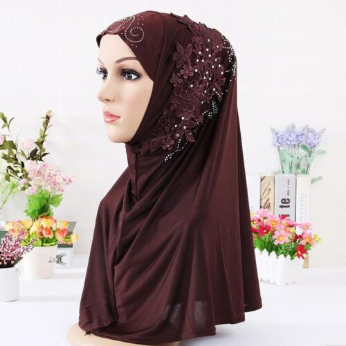 Muslim Women Hijab Hat Scarf Islamic Wrap Arab Shawl Head Cover Turban Caps Lot
