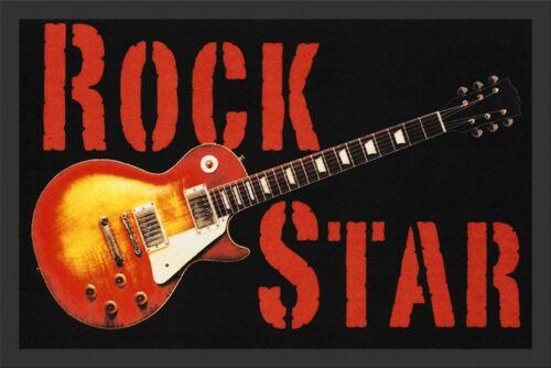 "Türmatte Fußmatte /""Rockstar Gitarre/"" Mehrfarbig Nr.162 100776 Rockbites"