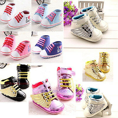 Boys Girls cute Trainer Shoes Toddler Infant Soft Bottom Sneaker  Prewalker #QTC