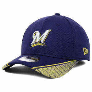 c9af3bcf7bac11 Image is loading Milwaukee-Brewers-MLB-Vertical-Strike-New-Era-39Thirty-