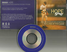 SHAGGY Hope 3TRX w/ RARE EDITS PROMO DJ CD single KEVIN COSTNER BASEBALL movie