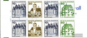 BRD-BR-Deutschland-MH22II-ad-kompl-Ausg-Lettersetdruck-postfrisch-1990-Burg