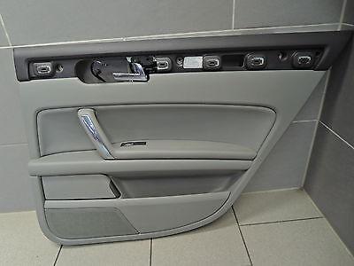 VW PHAETON 3D TÜRVERKLEIDUNG TÜR VERKLEIDUNG hinten rechts HR grau Leder GL233