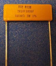 Vishay 100M-Ohm 1% Thick Film Planar Precision Resistor TR10F1006F